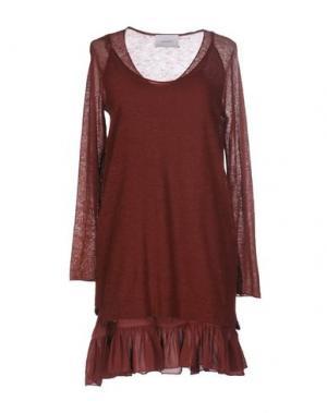 Короткое платье SITA MURT/. Цвет: коричневый
