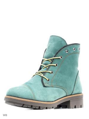 Ботинки Walrus. Цвет: зеленый