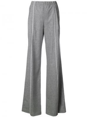 Широкие брюки Vionnet. Цвет: серый
