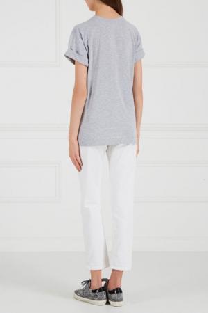 Серая меланжевая футболка BLANK.MOSCOW. Цвет: серый