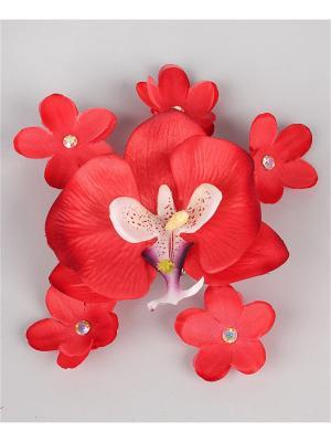 Заколка Орхидея Jane Flo. Цвет: красный