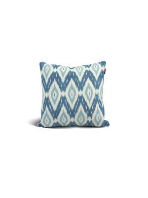 Чехол на подушку декоративныйIkat Square 45*45см RAWEDGE. Цвет: зеленый, синий