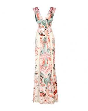 Длинное платье ROBERTO CAVALLI. Цвет: слоновая кость