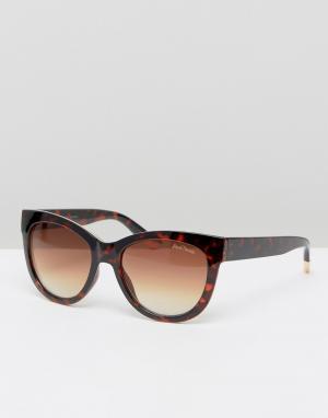 Black Phoenix Массивные солнцезащитные очки кошачий глаз. Цвет: коричневый