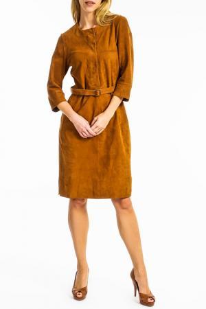 Платье Ibana. Цвет: коричневый