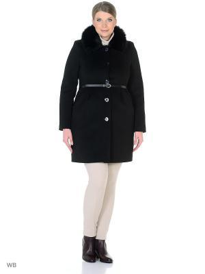 Пальто зимнее Лаурита песец XP-GROUP. Цвет: черный
