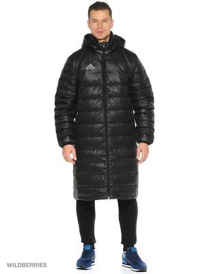 Пальто CON16 L DWN JK Adidas. Цвет: темно-синий