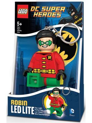Брелок-фонарик для ключей LEGO Super Heroes - Robin. Цвет: зеленый, красный, желтый