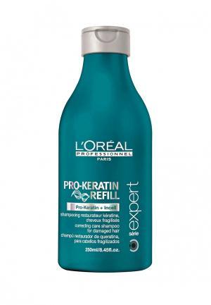 Восстанавливающий и укрепляющий шампунь LOreal Professional L'Oreal. Цвет: зеленый