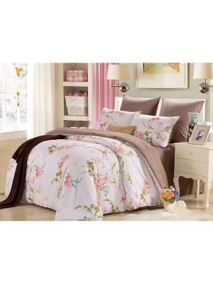 Комплект постельного белья, Миранда, 1.5 спальный KAZANOV.A.. Цвет: молочный