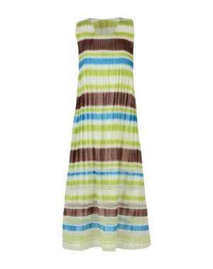 Длинное платье ISSEY MIYAKE. Цвет: светло-зеленый