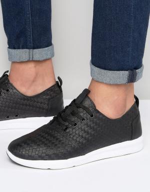 Toms Кожаные кроссовки Del Ray. Цвет: черный
