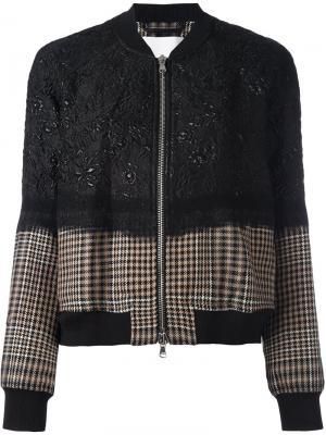 Куртка бомбер с цветочным узором 3.1 Phillip Lim. Цвет: чёрный