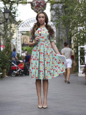 Платье с цветами Hello Russia