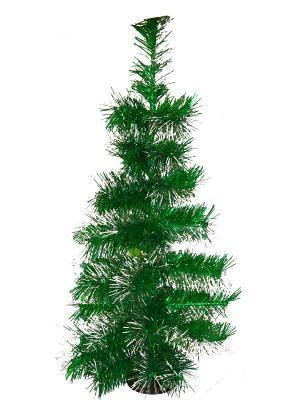 Ель искусственная Зеленая с инеем 0,6 м Карнавал-Премьер. Цвет: зеленый