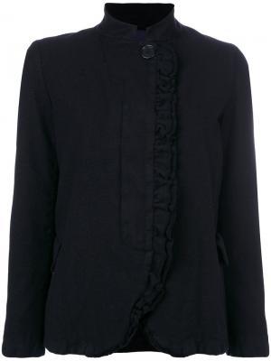 Пиджак с оборкой Aspesi. Цвет: синий