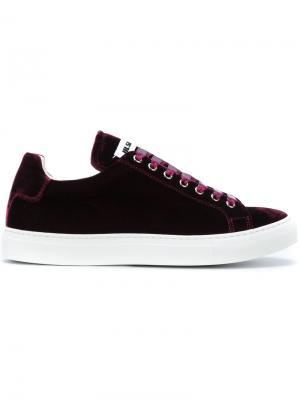 Кеды на шнуровке Jil Sander. Цвет: розовый и фиолетовый