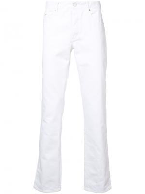 Прямые джинсы Maison Kitsuné. Цвет: белый
