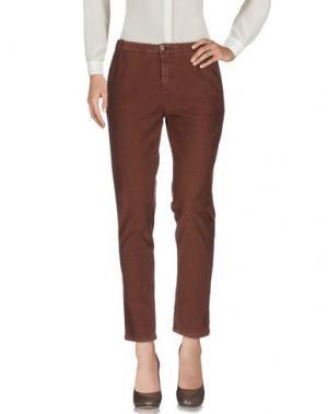 Повседневные брюки HEAVY PROJECT. Цвет: темно-коричневый