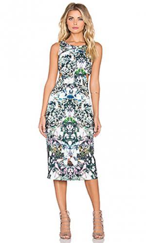 Платье с вырезами porter Hunter Bell. Цвет: зеленый