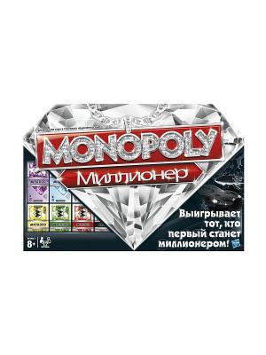 Игра Монополия Миллионер Hasbro. Цвет: белый, золотистый, красный, черный