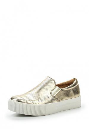 Слипоны Sweet Shoes. Цвет: золотой