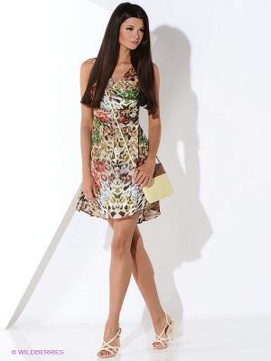 Платье Malvin. Цвет: коричневый, красный