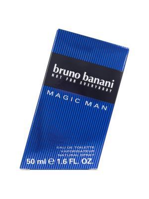 Туалетная вода Bruno Banani Magic Man 50 мл (новая упаковка). Цвет: прозрачный