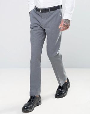 Harry Brown Фланелевые брюки слим. Цвет: серый
