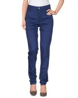 Повседневные брюки MONKEE GENES. Цвет: темно-синий