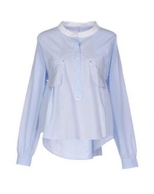 Блузка HIGH. Цвет: небесно-голубой