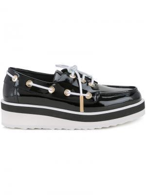 Marina boat shoe loafers Pierre Hardy. Цвет: чёрный