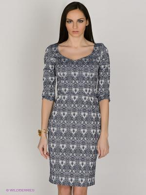 Платье Capriz. Цвет: синий, серый