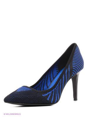 Туфли ASH. Цвет: черный, синий