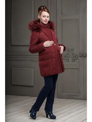 Пальто DIDILIYA. Цвет: бордовый