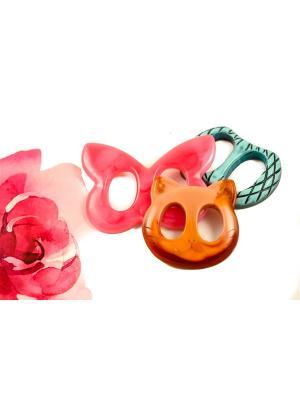 Пряжка Волшебная пуговица для шейного платка madam Пряжкина. Цвет: бирюзовый, розовый, темно-бежевый