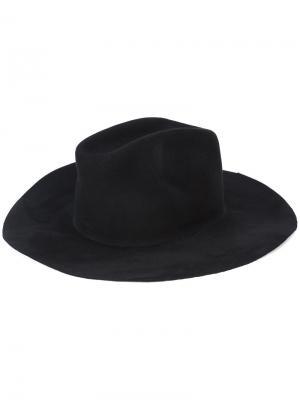 Фетровая шляпа Ryan Roche. Цвет: чёрный
