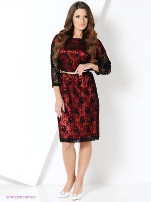 Платье Magnolica. Цвет: бордовый