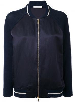 Куртка-бомбер Zanone. Цвет: чёрный