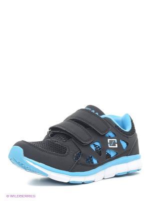 Кроссовки Escan. Цвет: черный, голубой