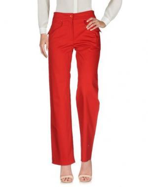 Повседневные брюки ARMATA DI MARE. Цвет: красный