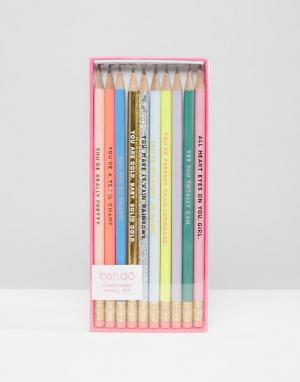 BAN DO Набор карандашей с надписями‑комплиментами Ban.Do. Цвет: мульти