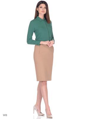 Блузка ZOHEN. Цвет: зеленый