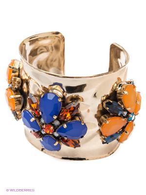 Браслет Claudio Canzian. Цвет: золотистый, синий, оранжевый