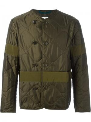 Стеганая куртка Oamc. Цвет: зелёный
