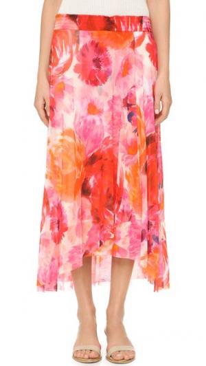 Принтованная юбка Fuzzi. Цвет: герань