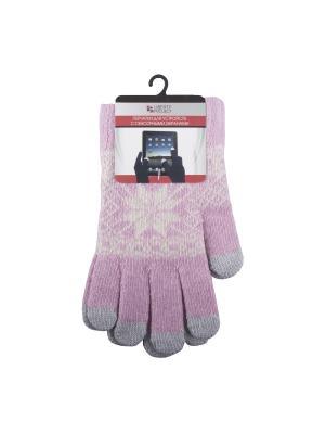 Перчатки LP для сенсорных экранов Снежинка Liberty Project. Цвет: розовый