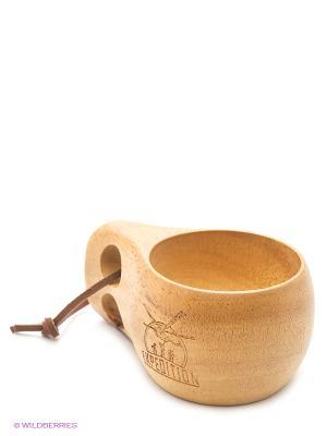 Кружка деревянная сувенирная Экспедиция. Цвет: коричневый