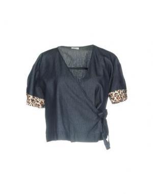 Джинсовая рубашка GOLD CASE. Цвет: синий