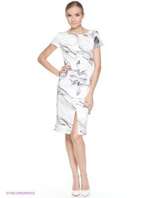 Платье ADZHEDO. Цвет: молочный, серый
